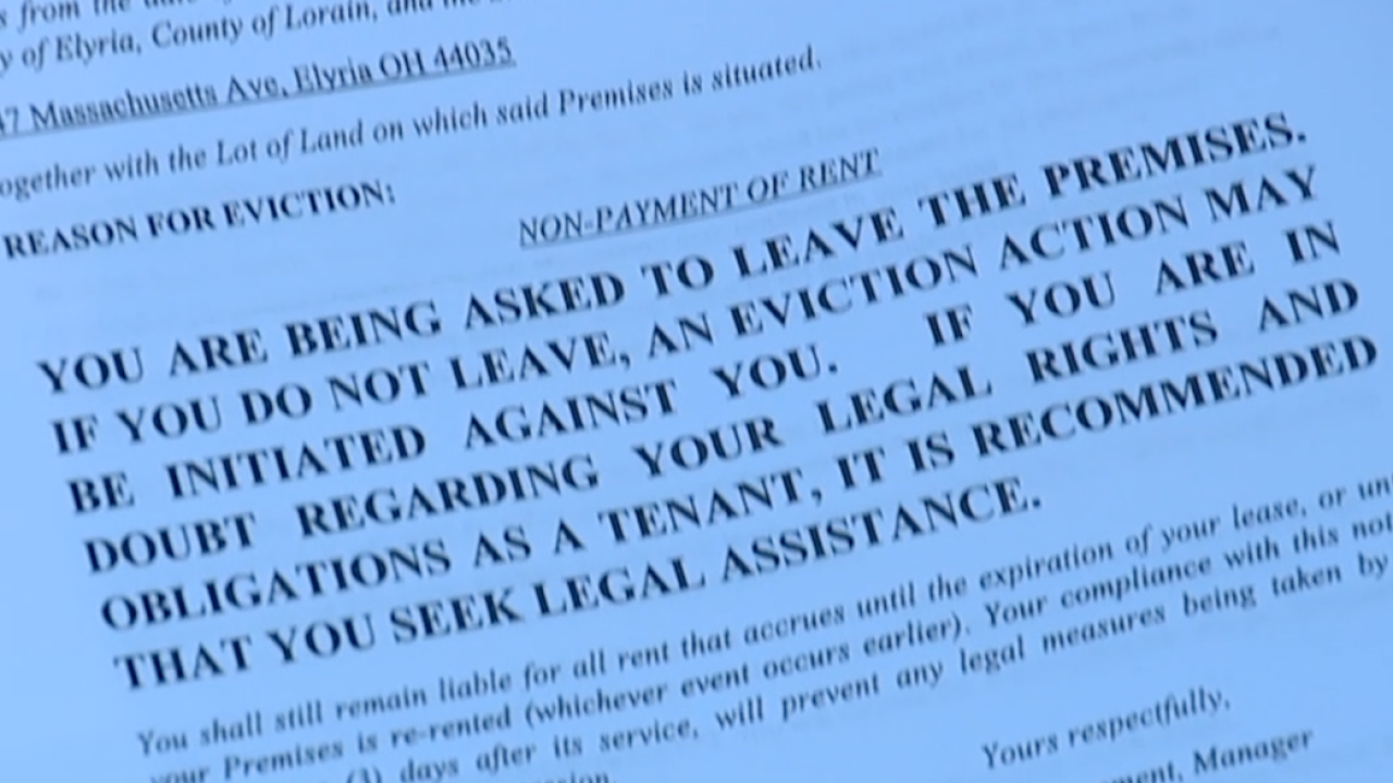 Elyria renters concerned about late rent notices and eviction