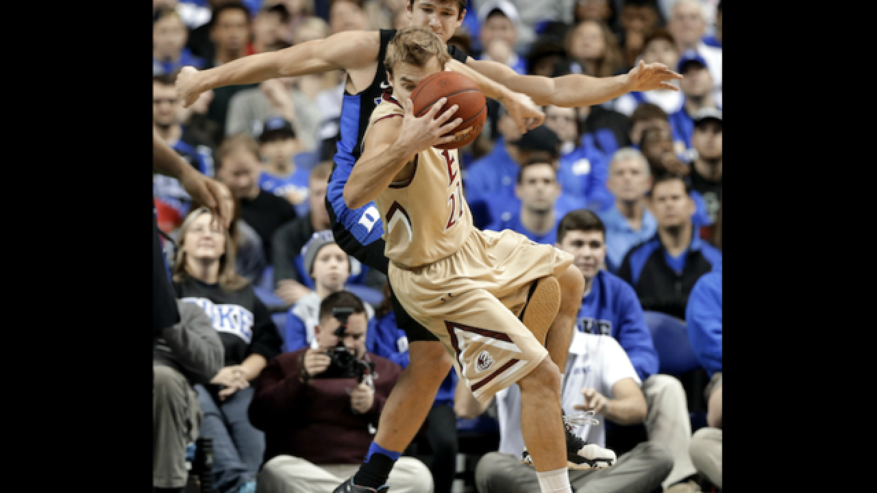 Duke's Grayson Allen caught tripping opposing player for third time in a year