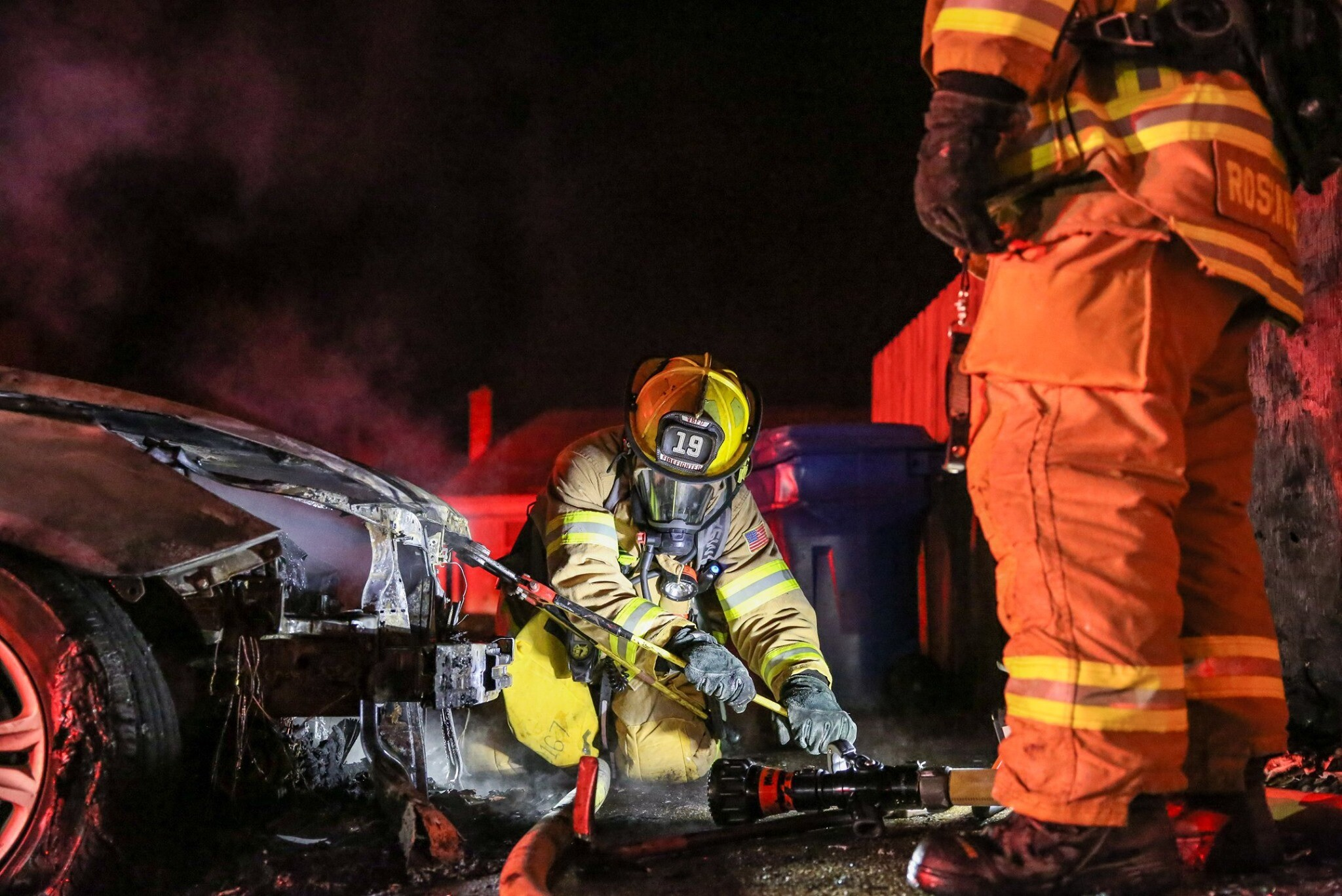 Photos: No injuries after vehicle fire in Virginia Beach