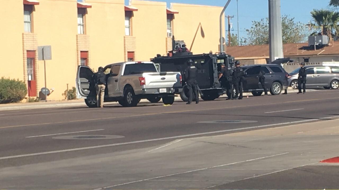 Dobson/University barricade situation