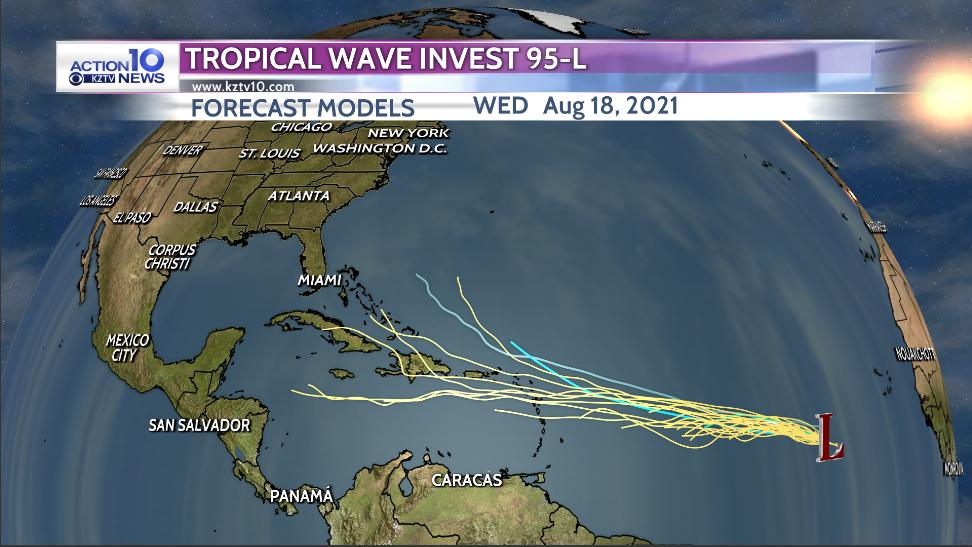 Invest 95-L Forecast Models