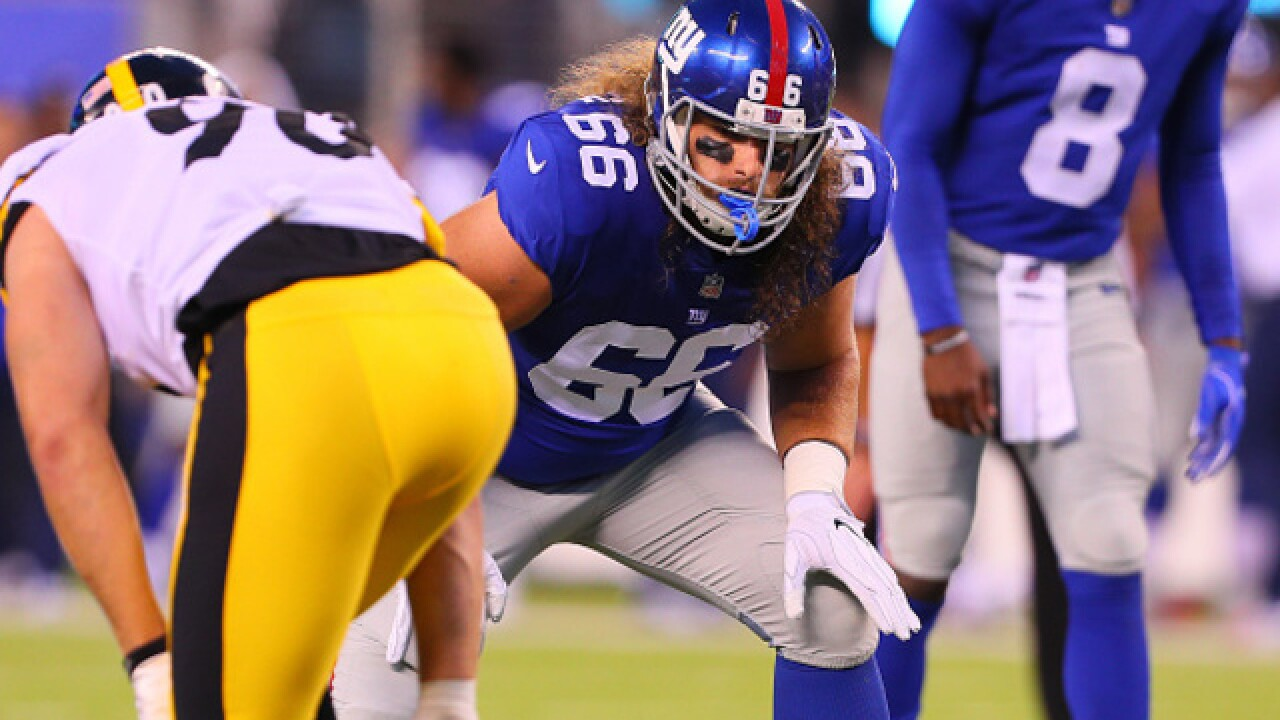Lions acquire Bisnowaty off waivers from Giants