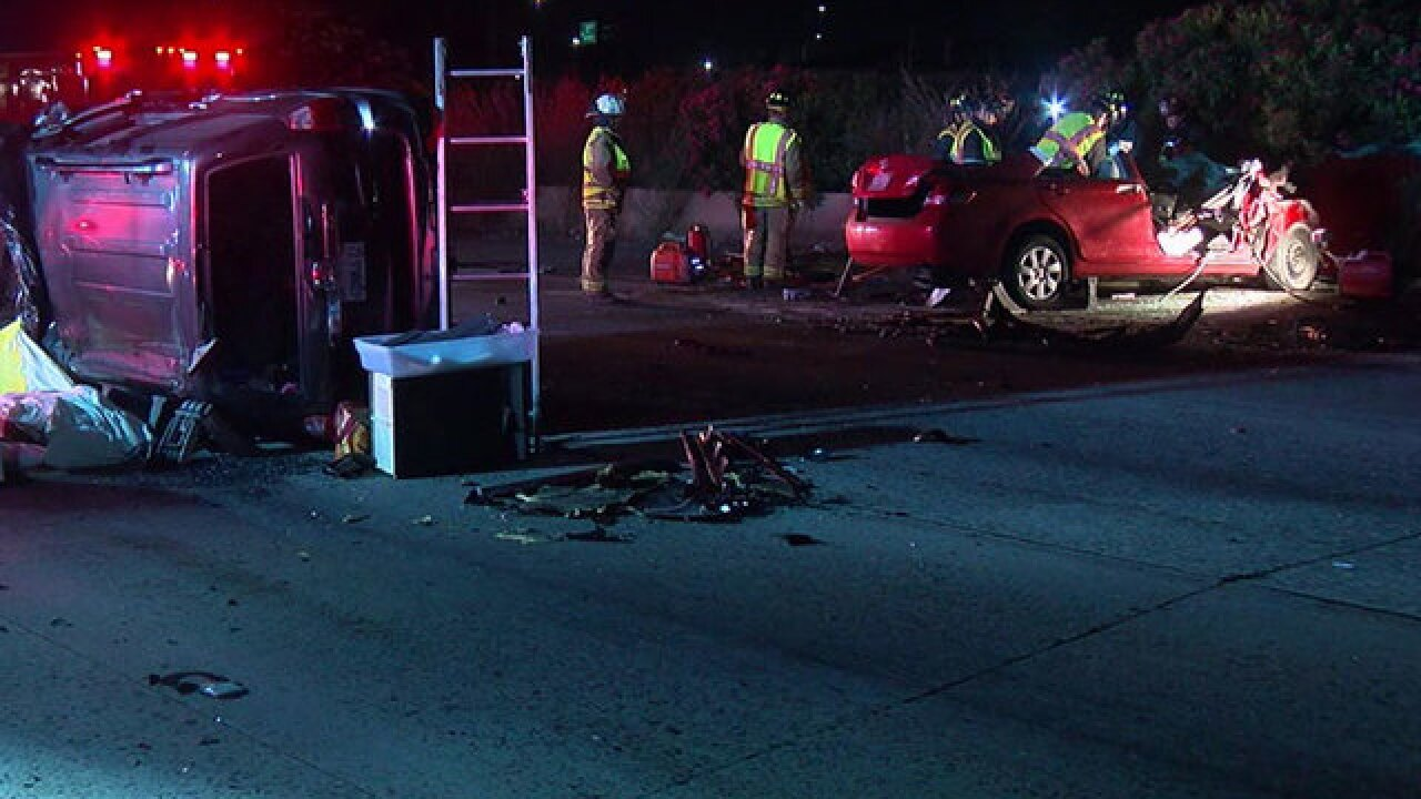 Two people killed in a wrong way crash on the 5
