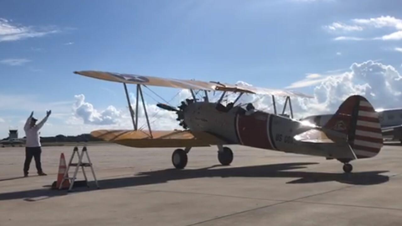 A World War II era plane takes flight at the Boca Raton Airport on Sept. 29, 2021.jpg
