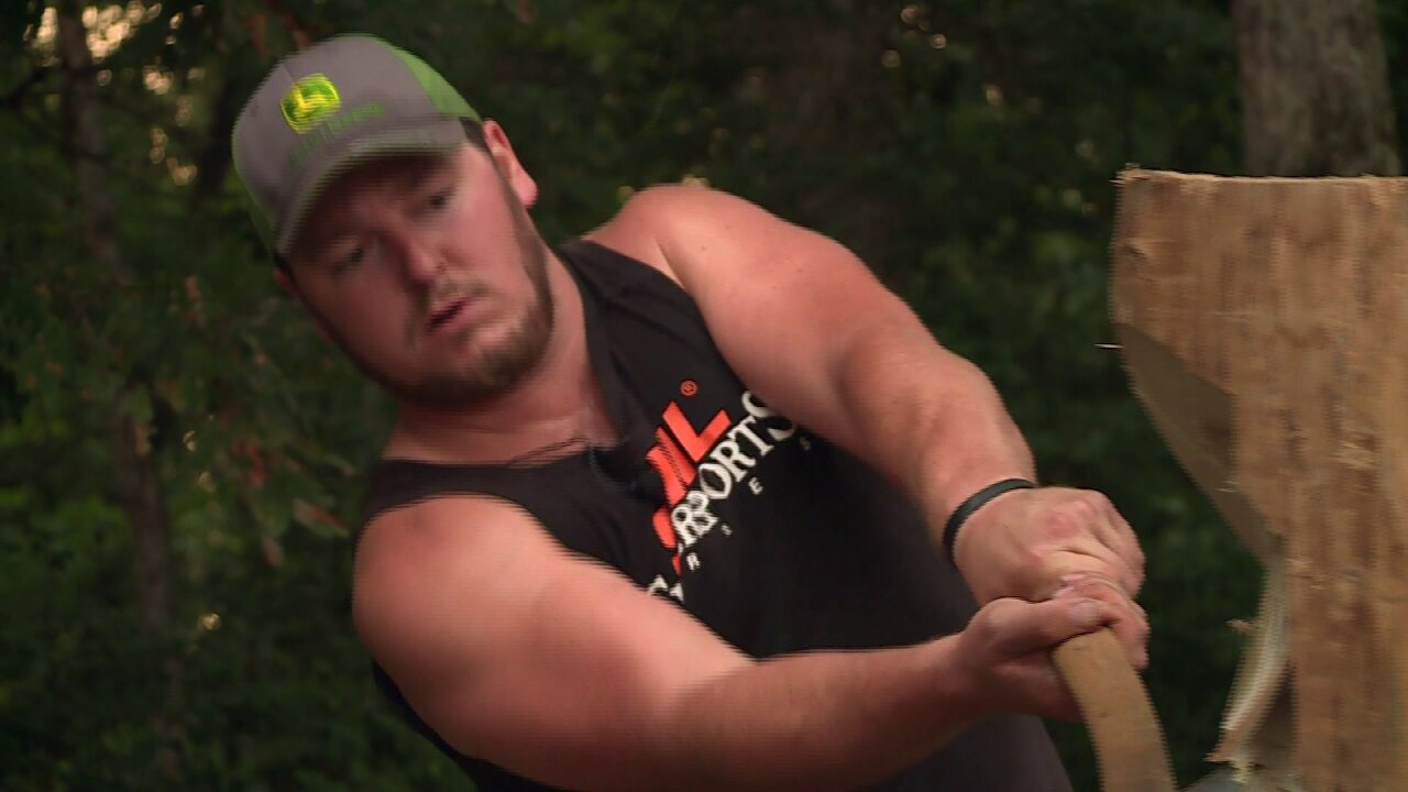 Hanover's Paul Bunyan: Former baseball standout now swings different kind ofstick