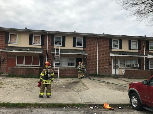 Photos: Adult, four children displaced after Portsmouth fire