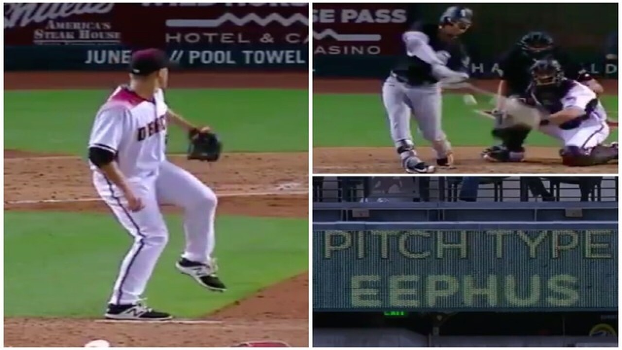 VIDEO: D-backs' Zack Greinke strikes out batter with rare, super-slow 'eephus' pitch