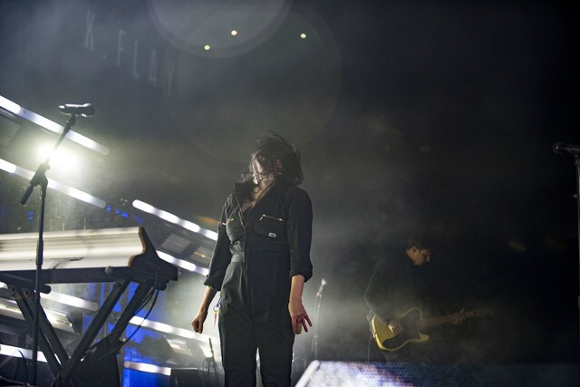 Newcomer K. Flay warms up the Pepsi Center crowd!