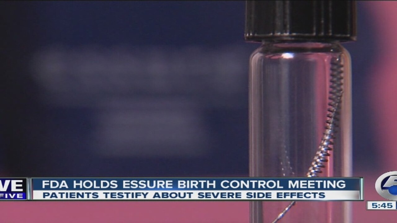 FDA panel meeting on Essure safety concerns