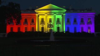 White House lit up to support the LGBTQ+ community