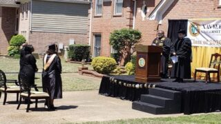 This Dad Built A Stage In His Driveway To Throw His Daughter A Graduation Ceremony