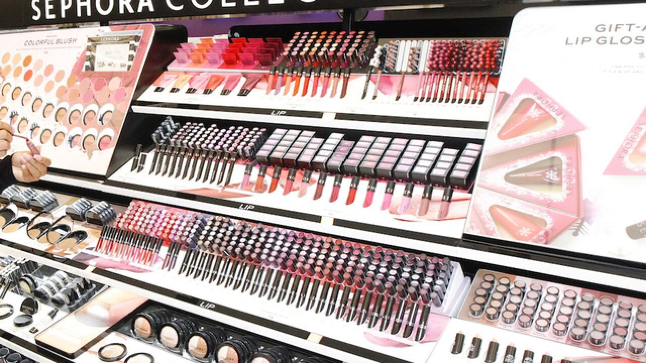 A display is seen at Sephora in San Francisco