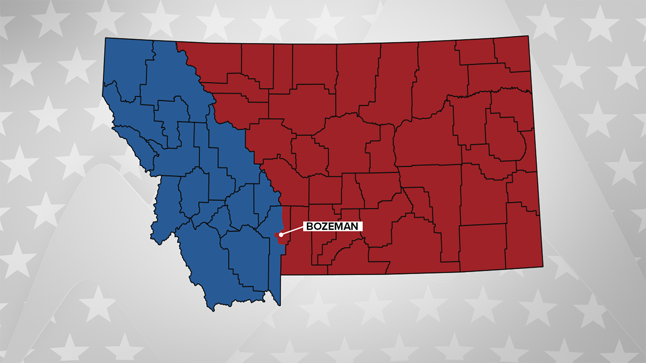 One potential congressional districting for Montana