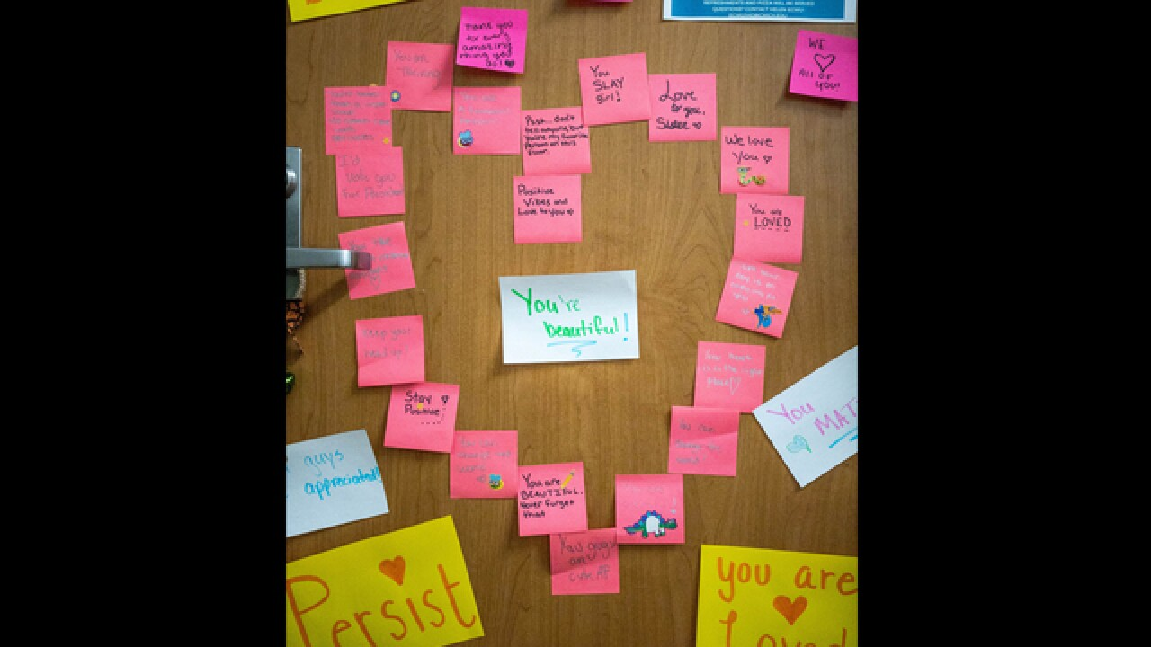 Inspiring messages replace racist note left on student's door at Central Michigan University