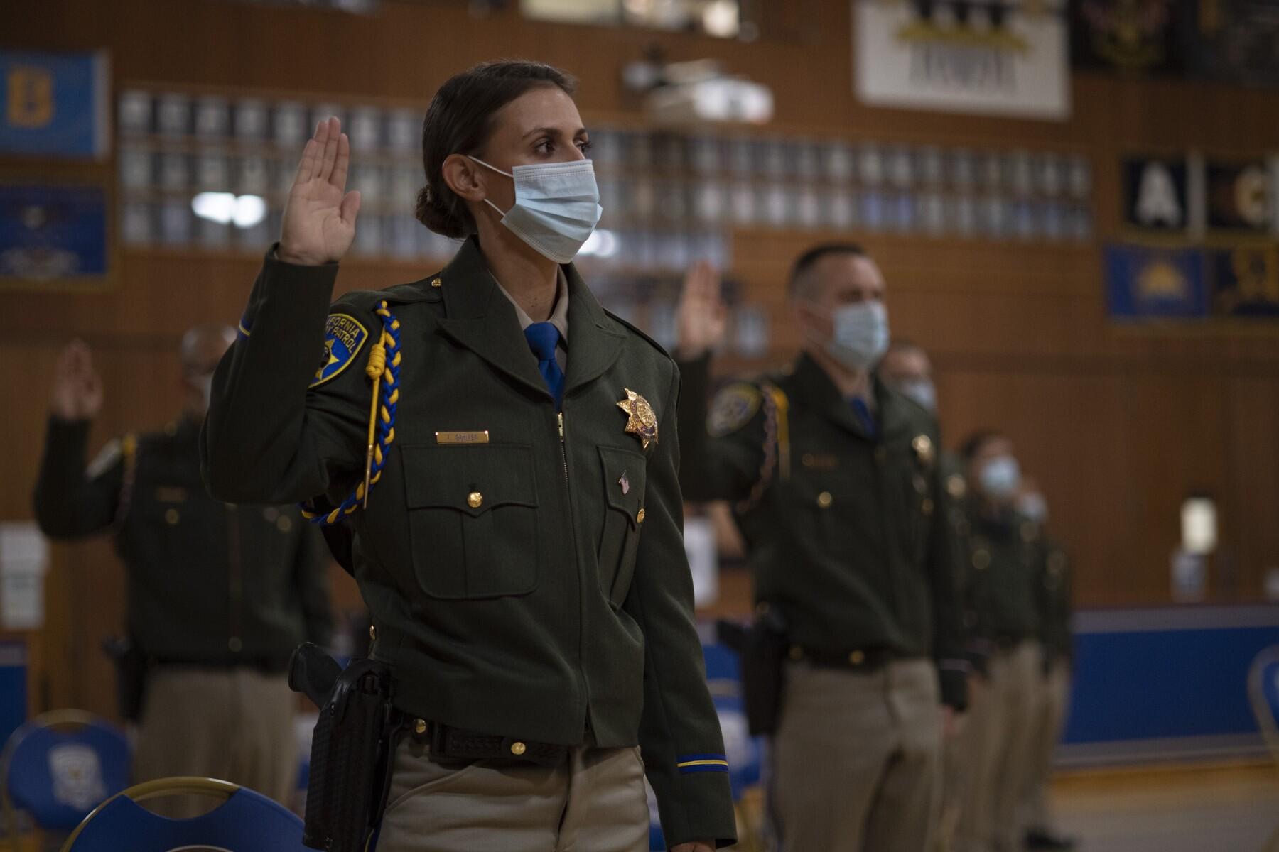California Highway Patrol swears in 77 new officers