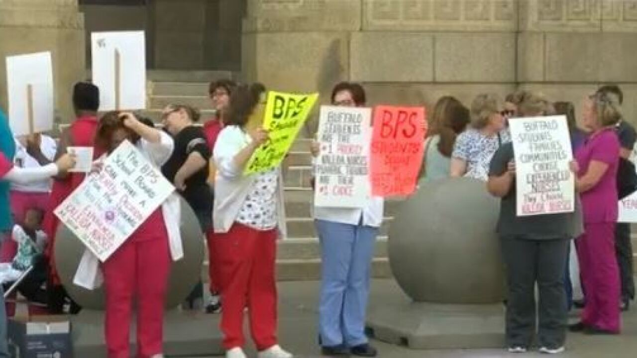 Buffalo Public Schools officially ends 13-year contract with Kaleida nurses