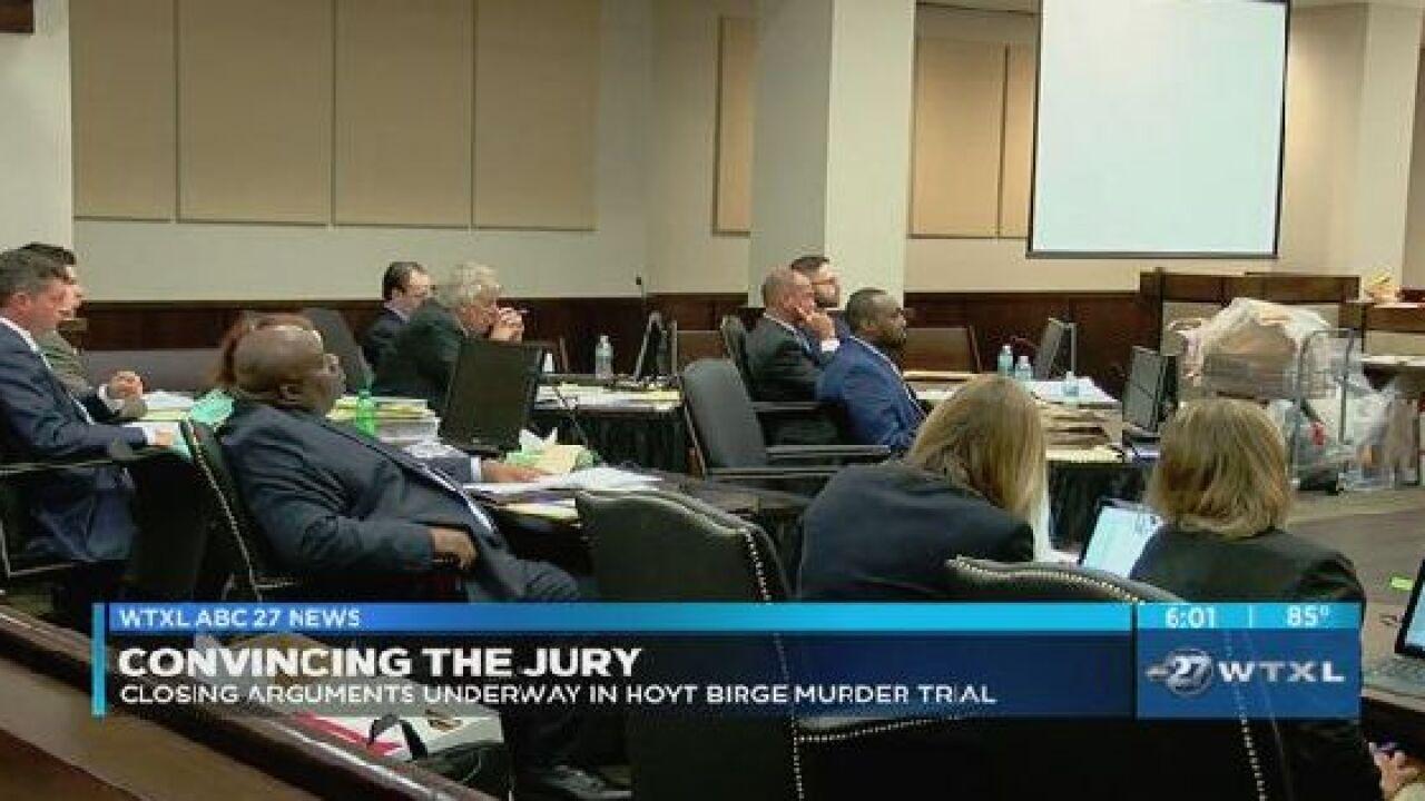 Closing arguments underway in Hoyt Birge murder trial