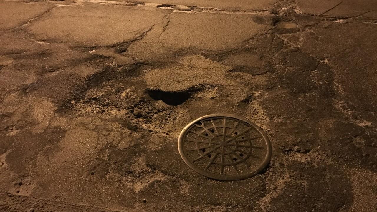 Worst pothole in Milwaukee is near 84th and Lisbon