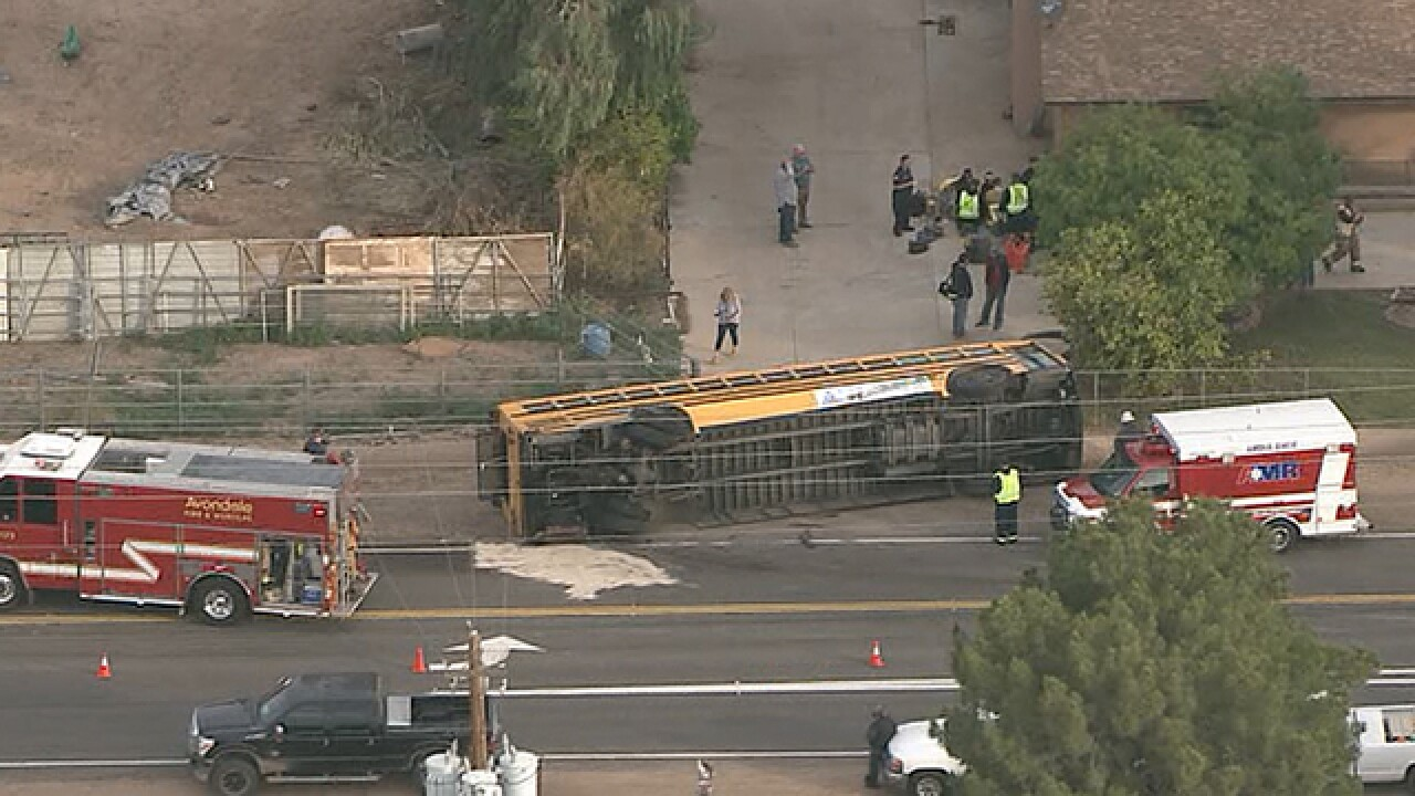 FD: Injuries in school bus rollover in Avondale
