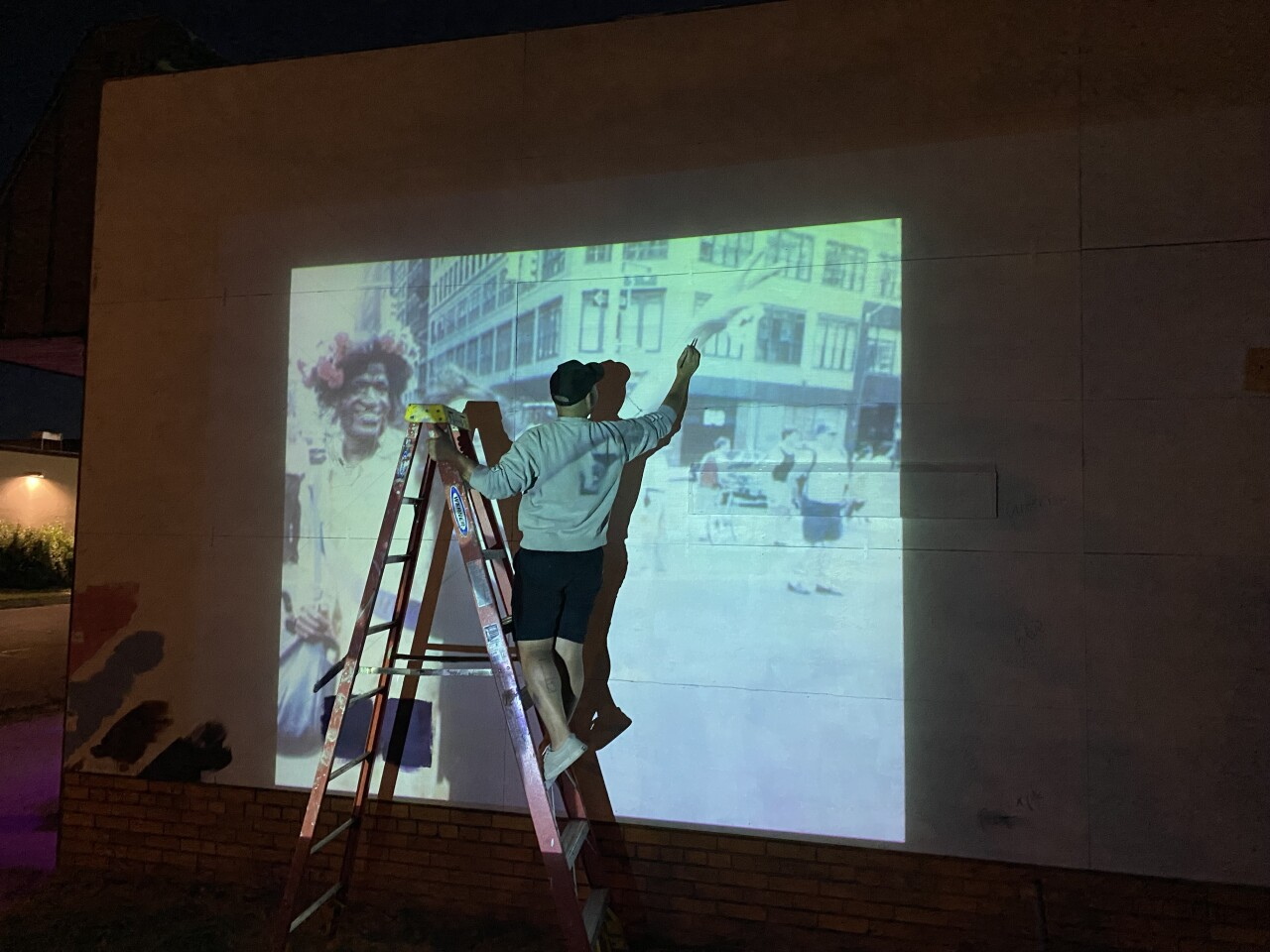 Lo traces the outlines of Marsha P. Johnson and Sylvia Rivera