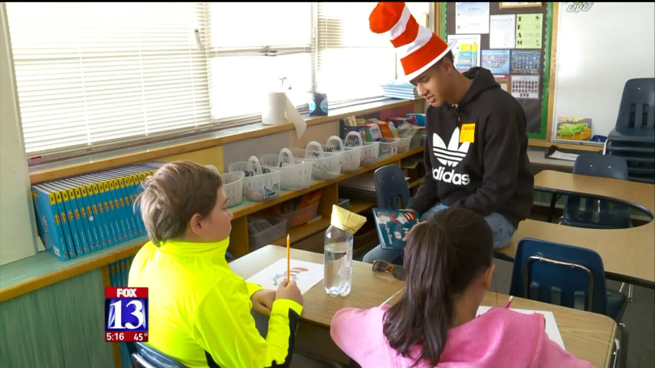 Dr. Seuss Day brings Utah high school and elementary studentstogether