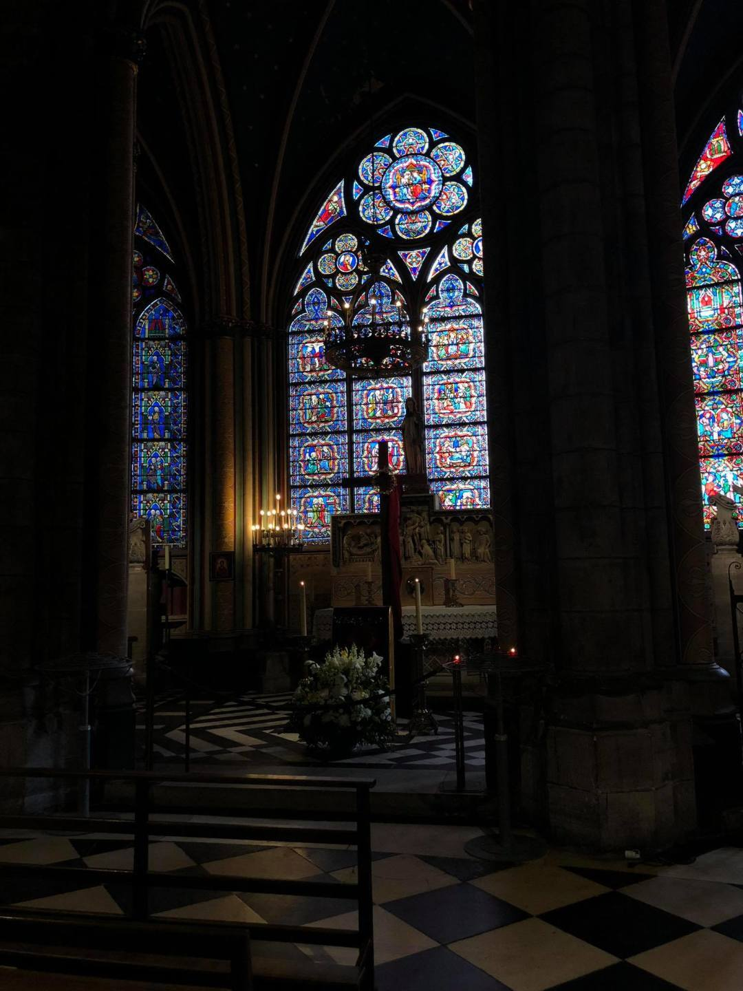 Photos show the beautiful interior of Paris' historic Notre Dame Cathedral
