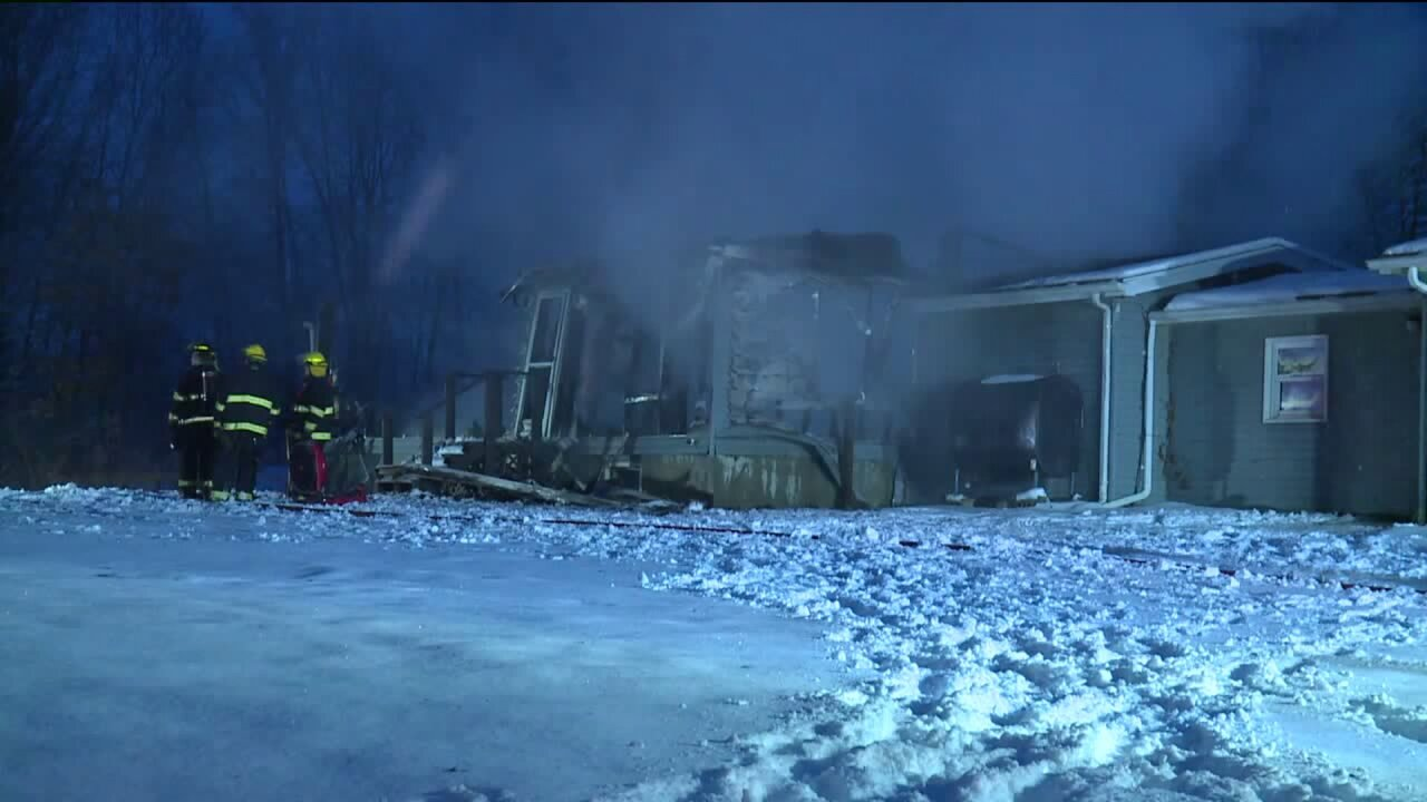 Barry County house fire on Kane Road