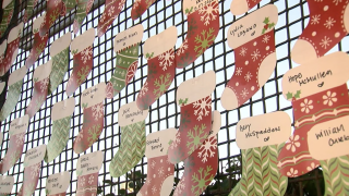 Christmas stockings for those who died from COVID-19