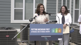 Governor Whitmer in Jackson at Andy's Place