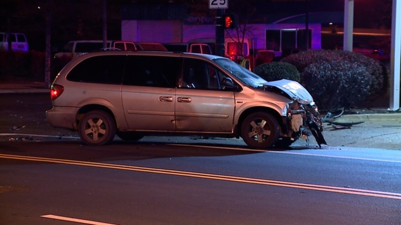 Car crashes moments after police chase canceled