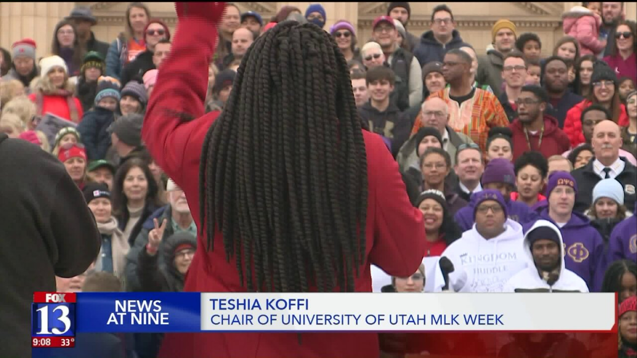 Utahns march in honor of Martin Luther KingJr.