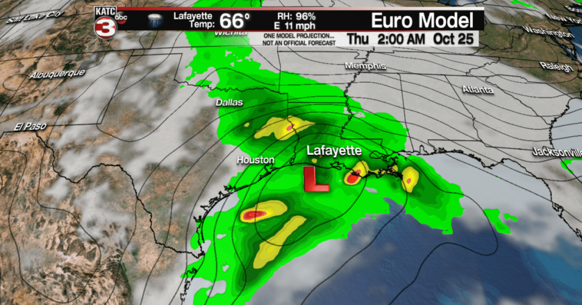 Showers Tuesday, solid soaking late Wednesday into Thursday