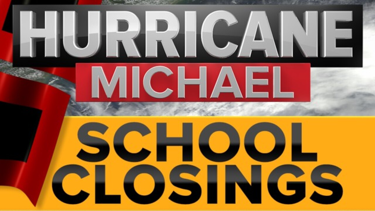 Official List: School closings due to Hurricane Michael
