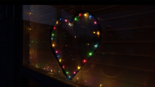 Christmas heart for hope during Coronavirus outbreak
