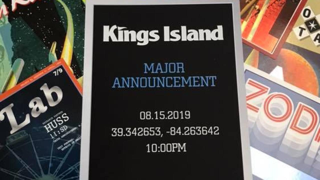 Kings Island to announce major new ride Thursday