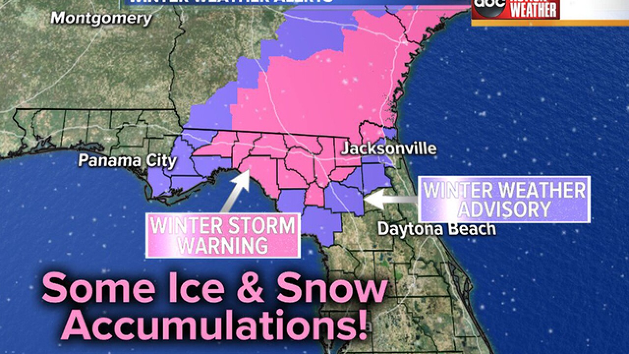 Winter Storm Warning issued for north Florida