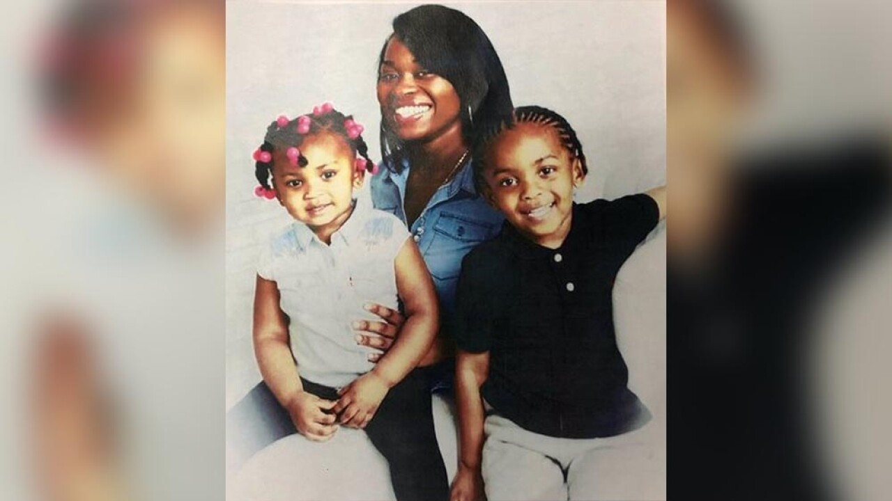 Jamerria Hall and her children, 3-year-old Da'Neira Thomas and 5-year-old Davin Thomas Jr., from 2018.