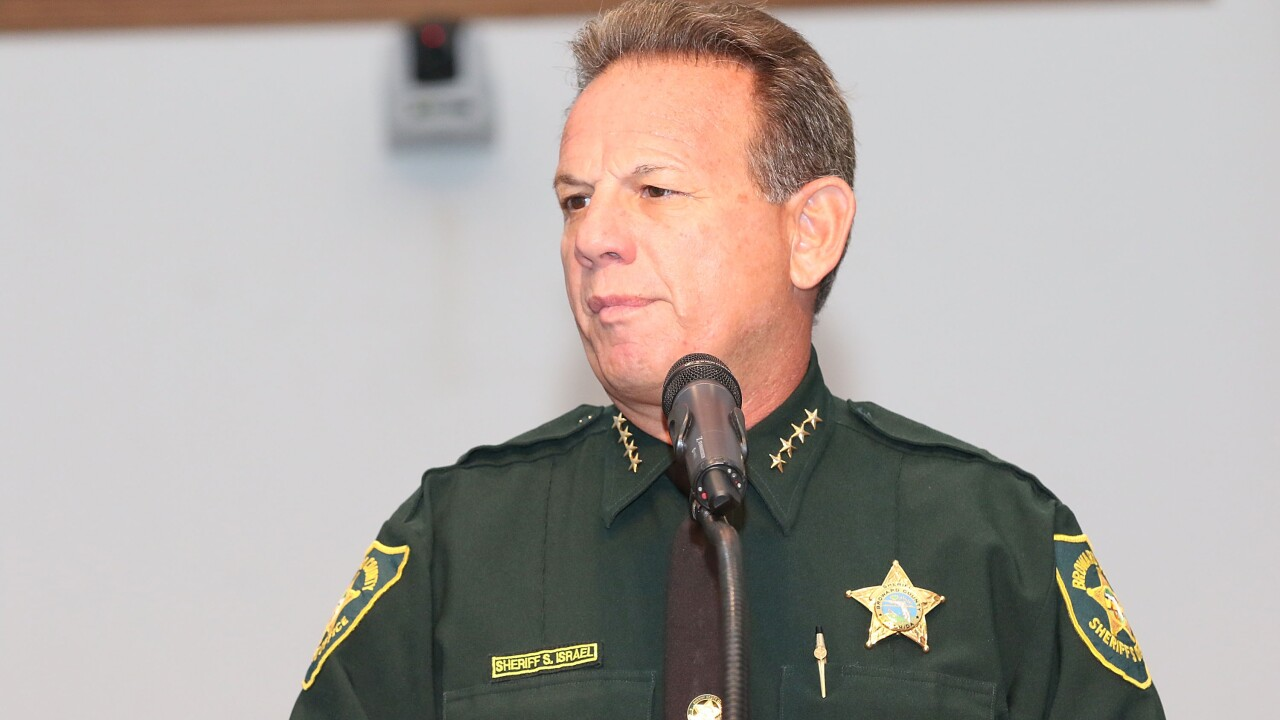 Florida sheriff tells staff he's suspended for Parkland