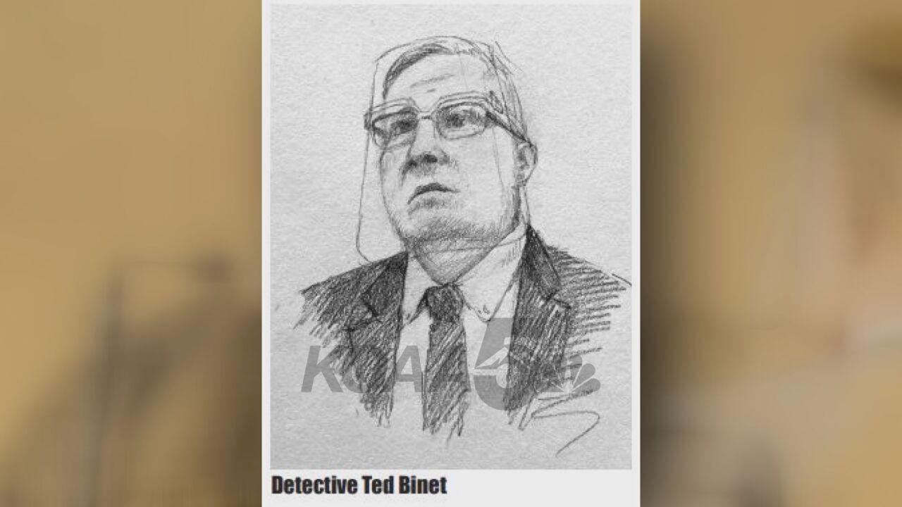 A sketch of Denver Police Department Detective Ted Binet