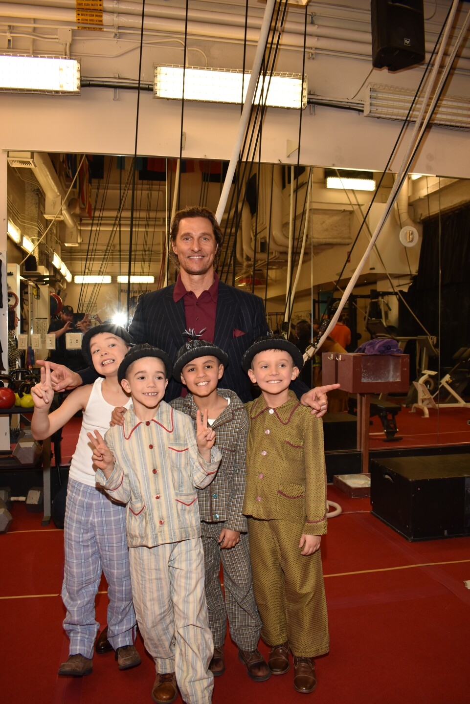 Matthew McConaughey with the Kids of Liverpool at LOVE by Cirque du Soleil, Jan. 18, 2020.jpg