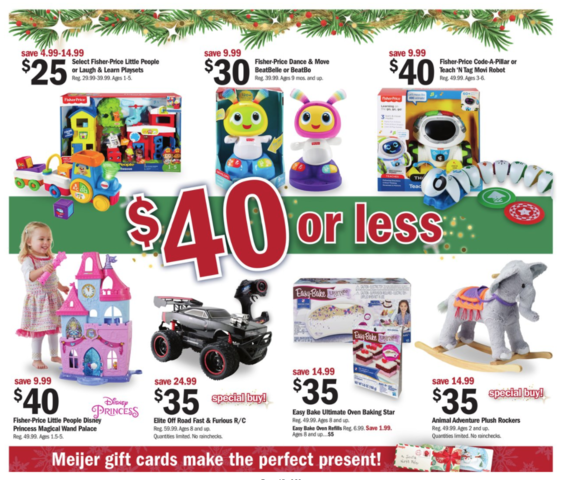Meijer Thanksgiving and Black Friday Deals are out