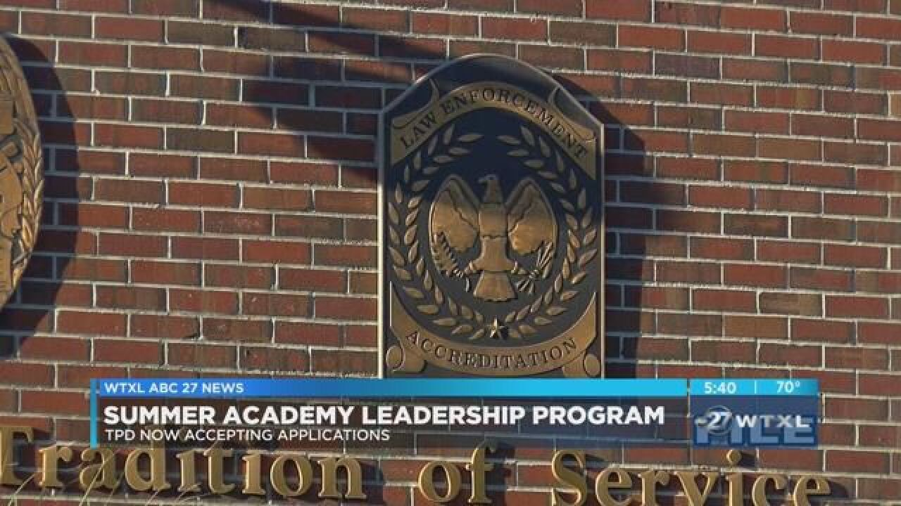 TPD accepting students for Summer Academy Leadership Program