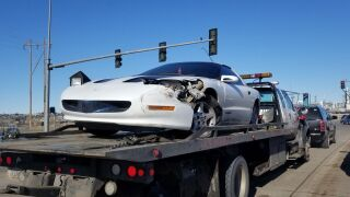 Possible hit and run ends with car abandoned