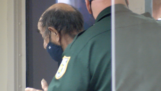 Felix Cabrera leaving court after first appearance, June 8, 2021