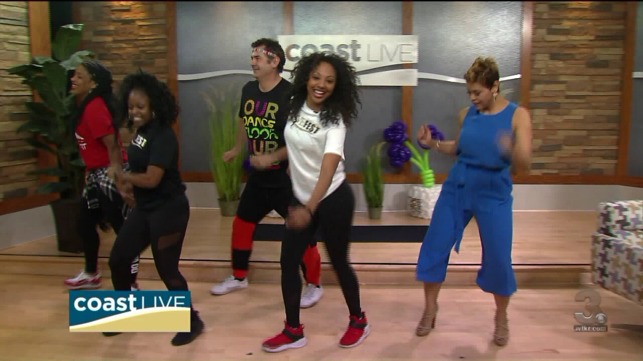 Practicing for the big LOVE Fest Zumba meet-up in Hampton on CoastLive
