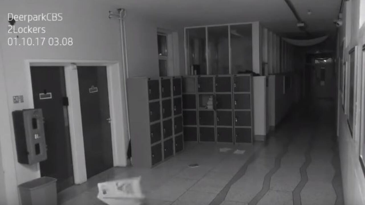 Prank or a poltergeist? School with haunted history captures ghosts on surveillancecamera