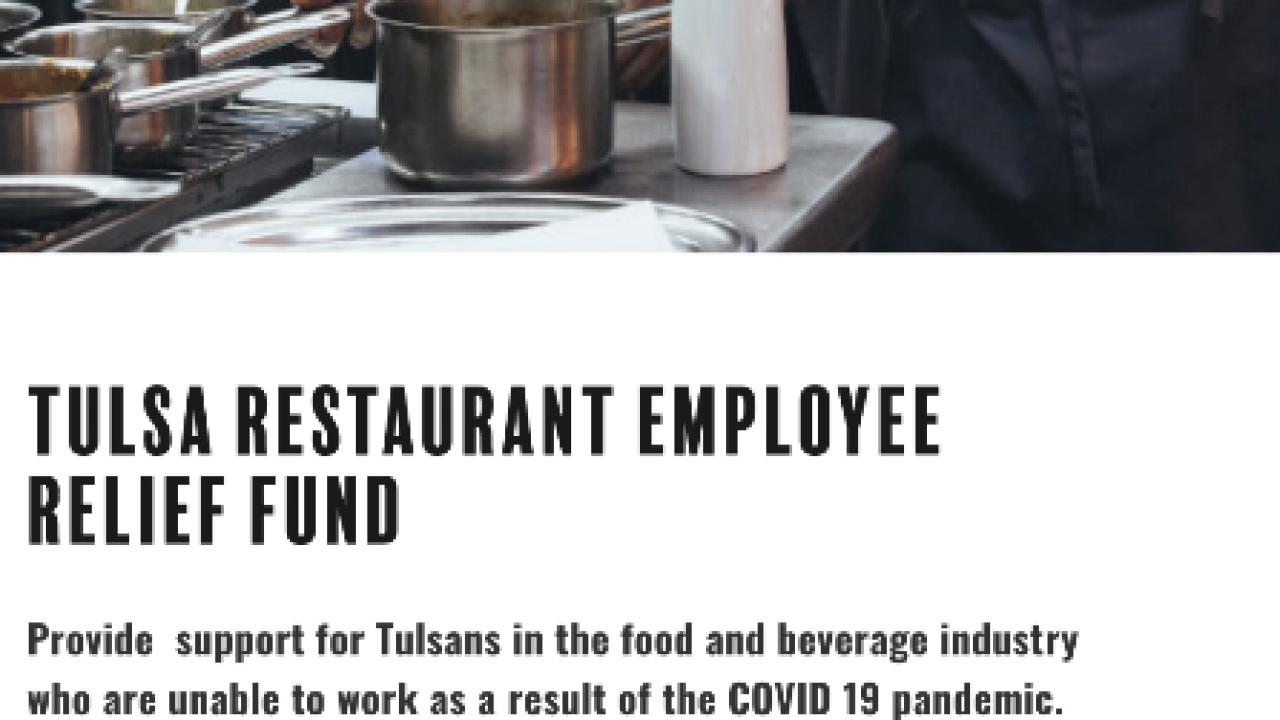 tulsa restaurant employee relief fund