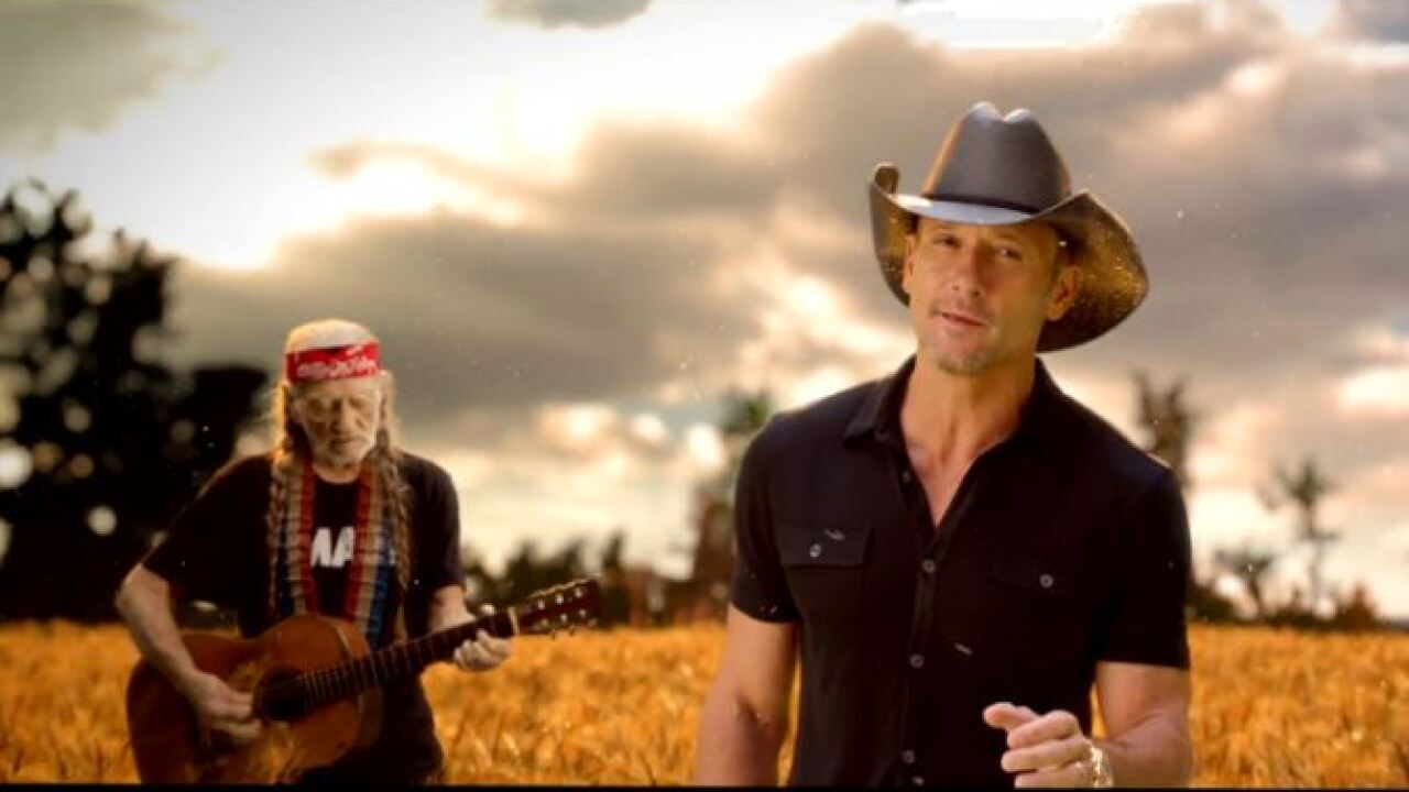 Country Music's biggest names team up for 'Forever Country' music video