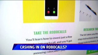 Trying to make cash off robocalls