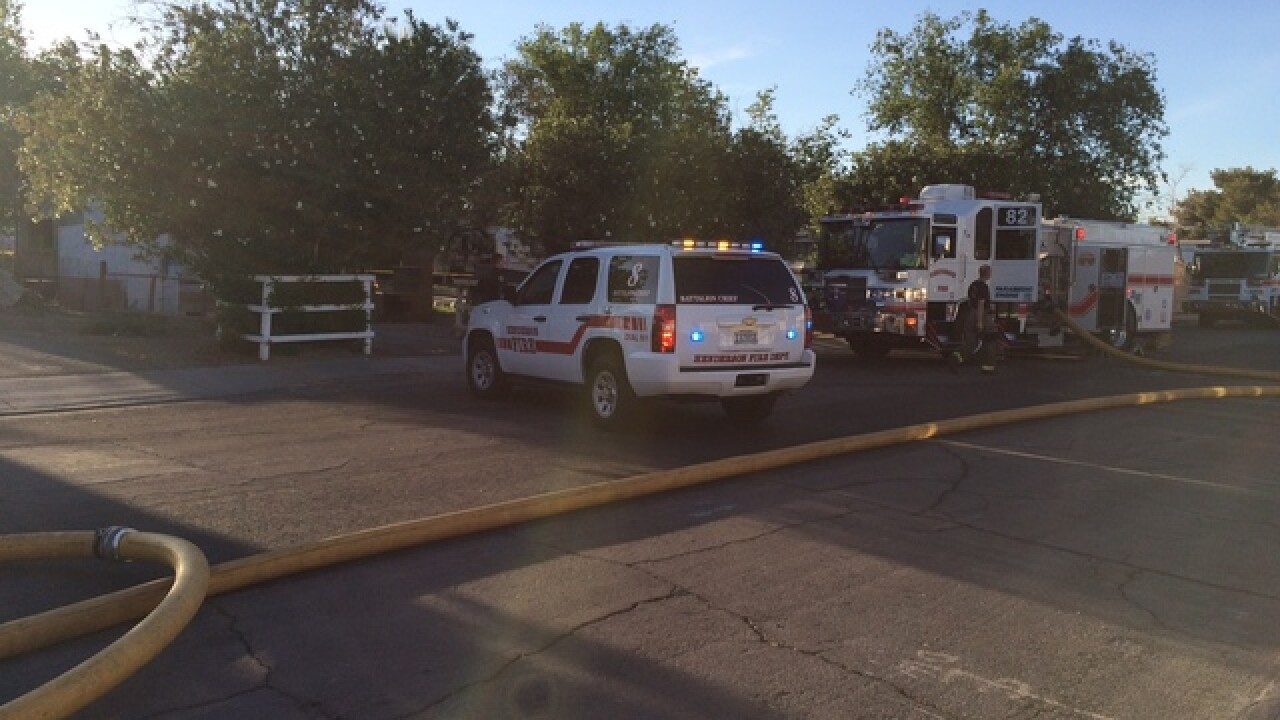 One critically injured in Henderson house fire